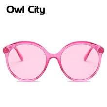 Owl City Round Sunglasses Women Vintage Ladies Sun Glasses B