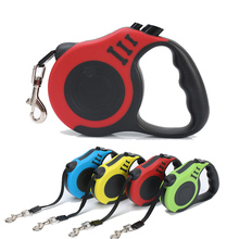 3M/5M Automatic Dog Leashes Nylon Retractable Leash Extending Puppy Walking Leads For Small Medium Dogs Pet Supplies