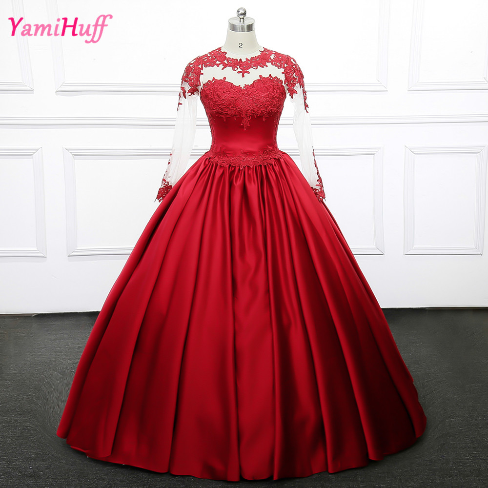 Red Ball Gown Dresses: Aliexpress.com : Buy Burgundy Red Ball Gown Muslim Wedding