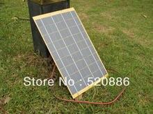 10 W Células solares del panel solar de 10 Vatios 12 Voltios Fuente Del Jardín Del estanque del Cargador de Batería + Diode