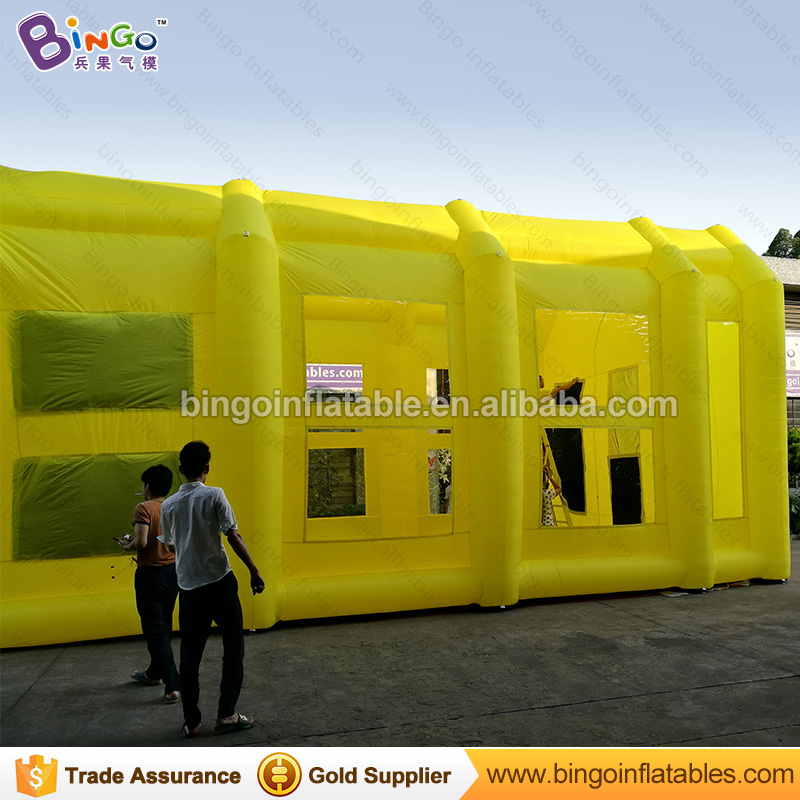 Giant inflatable paint spray booth Inflatable Paint Spraying Booth Workshop in Yellow 10X5X5 Meters free shipping