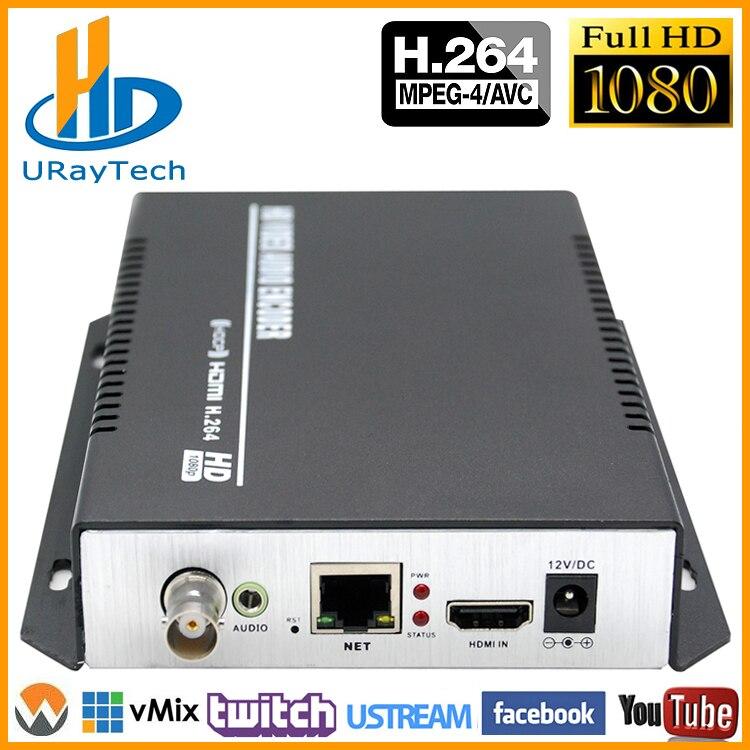MPEG-4 H.264/AVC 1080 p 1080I HDMI + Audio Stéréo + CVBS Vidéo Codeur RTMP RTSP Flux IP Codeur IPTV Soutien NTSC PAL