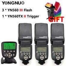 YONGNUO YN560 III YN560III YN-560III YN560-III Вспышка Speedlite Speedlight x3+ YN-560TX YN560TX контроллер вспышки для Canon Nikon