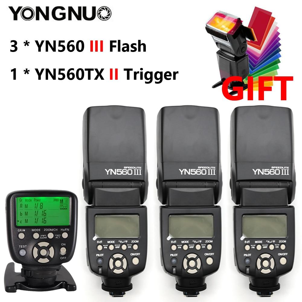 YONGNUO YN560 III YN560III YN 560III YN560 III Speedlite Flash Speedlight x3+ YN 560TX YN560TX Flash Controller For Canon Nikon