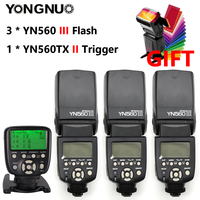 YONGNUO YN560 III YN560III YN 560III YN560 III Speedlite Flash Speedlight x3+ YN 560TX YN560TX Flash Controller For Canon Nikon