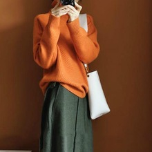 Too Much! A Dazzling Orange Cashmere Sweater! New Women's Clothing In Autumn and Winte Women Sweaters and Pullovers Women