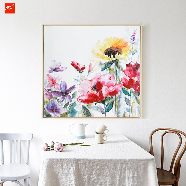 Us 22 9 2017 New Season Spring Flower Painting Wall Art Canvas Print Oil Painting For Livingroom Dinning And Bedroom Wall Decoration In Painting