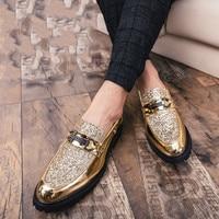 2019 Thick Bottom Dress Shoes Plus Size Luxury Italian Style Fashion Men Formal Shoes Brand Men Bring Business Leather Shoes Men