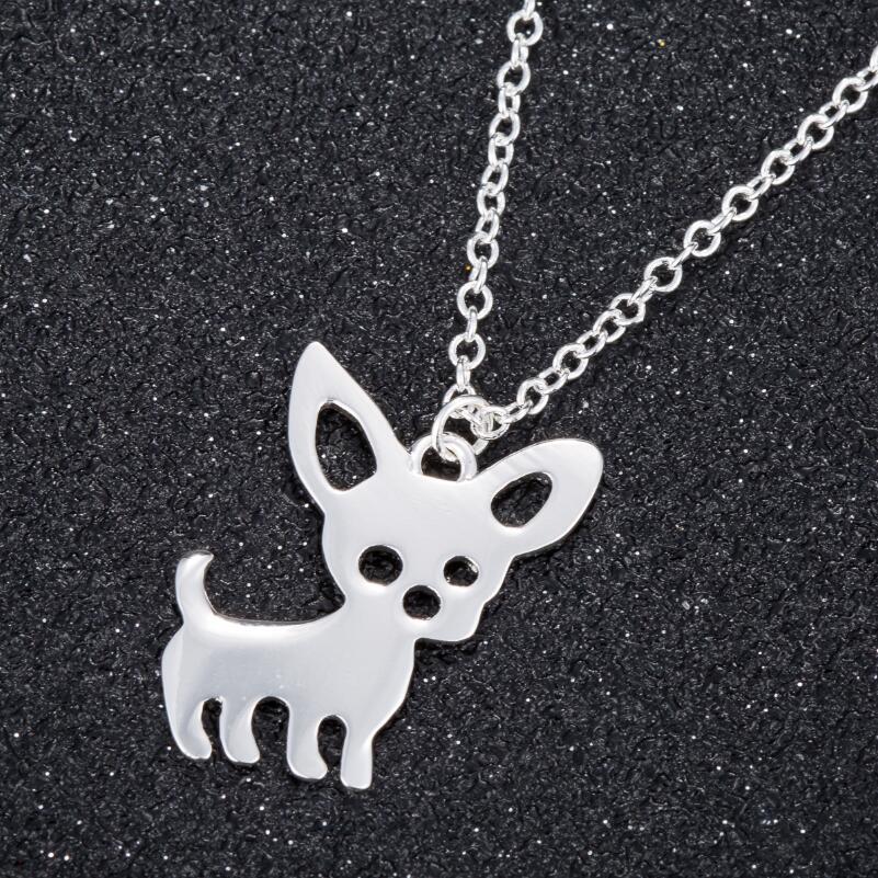Shuangshuo Bohemian Tiny Chiwawa Necklace for Women Long Chain Pet Dog Necklaces & Pendants Ethnic Chiwawa Choker Necklace N253