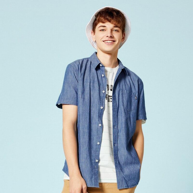 SEMIR Summer Fashion Brand Shirt Men Clothes Slim Fit Short Sleeve Shirt Men Solid Cotton Casual Men Shirt Social Plus Size