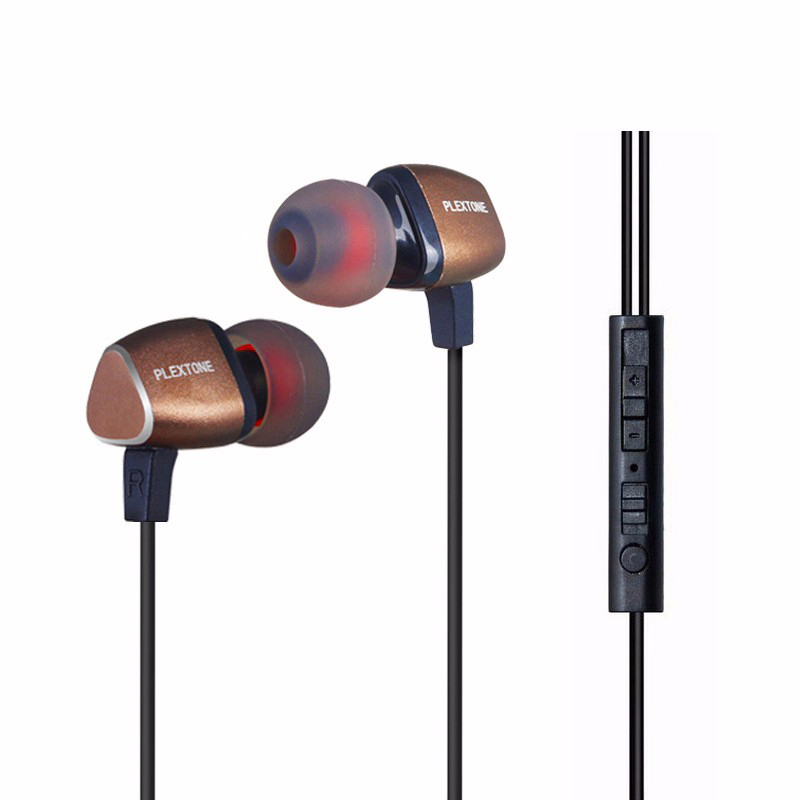 Hot Sale Plextone X36M Super Clear Metal Earphones Stereo Noise Cancelling Headset With Microphone In-Ear Line control Earbuds
