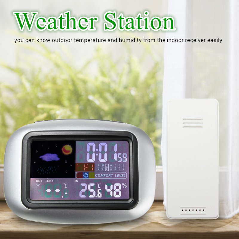 New Indoor Outdoor Dgital LCD Thermometer Hygrometer Electronic Wireless Weather Station Thermometer Hygrometer Tester smart multi functional weather station color led in outdoor electronic thermometer hygrometer home wireless comma weather clock