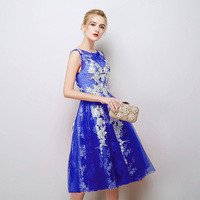 2019 Summer dresses Prom Gown Sexy Backless Short Prom Dresses Lace Formal Dress Wedding party dress for girls