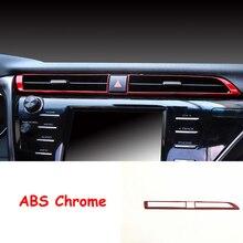 ABS пластик для Toyota Camry 2018 2019 автомобиль среднего украшение для вентиляционного отверстия Крышка отделка Тюнинг автомобилей Аксессуары 1 шт