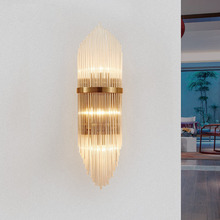 Креативный Золотой роскошный хрустальный настенный светильник для гостиной, прикроватный светильник, светодиодный пост, современный классический светильник для коридора