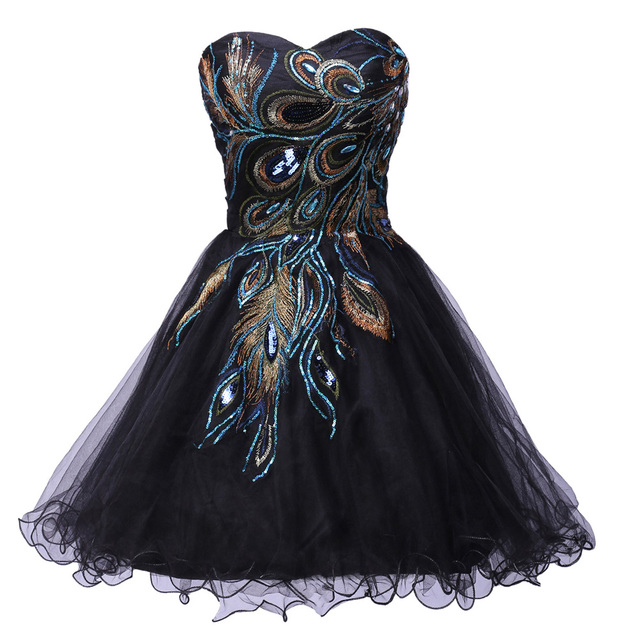 Black Short Formal Dresses for Teenagers