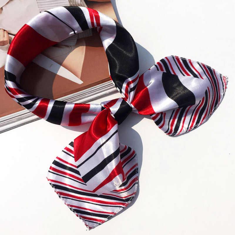 Moda 19 estilos mujer chica elegante cuadrado impresión estilo coreano Hotel camarero vuelo attenders negocios imitar bufanda de seda regalo