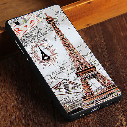 Huawei P8 Lite Luxury 3D Relief Silicon Back Cover For Huawei Ascend P8 Lite Fashion Cartoon Back Cover TPU Phone Case