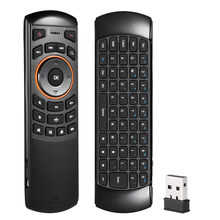 2.4G Hz Nirkabel QWERTY Keyboard Udara Mouse Handheld Remote Control 6 Gxes Giroskop untuk Windows/MAC OS/Linux android TV Box # S(China)
