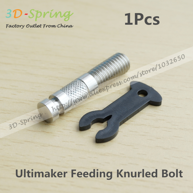 1Pcs Ultimaker Feeding Knurled Bolt Kits V3 With Button (Buckle) Stainless steel For 3D Printer Accessories