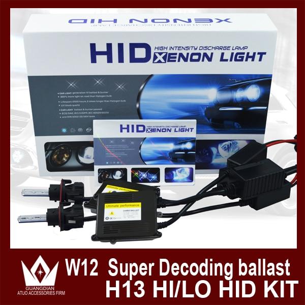 ФОТО Night Lord HID xenon kit with 35W Super Canbus Slim Ballast 12V H13 HID xenon kit H13 Hi/Lo HID Bi Xenon Beam  Free shipping