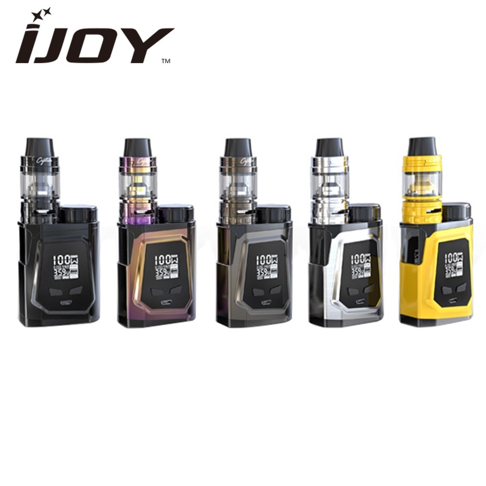 Original 100W IJOY CAPO 100 Kit with 3.2ml/ 2m Captain Mini Subohm Tank Max 100W Output No 18650/21700 Cell Best Flavor Vape Kit original ijoy saber 100 20700 vw kit max 100w saber 100 kit with diamond subohm tank 5 5ml