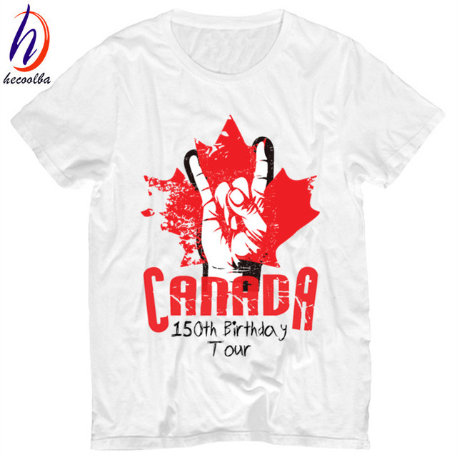 Canada 150th Birthday Print T shirt Men 2017 Canada 150 Year Funny ...