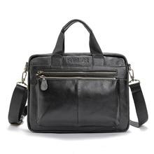 Männer Aus Echtem Leder Tasche Umhängetasche Mann Crossbody Große Umhängetasche Geschäfts Tote Aktentasche Marke Handtaschen Laptop Aktentasche