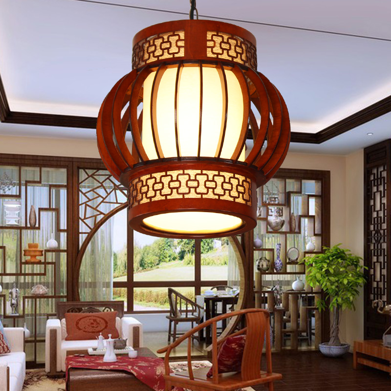 Chinese wooden pendant lamps dining rooms tea houses corridors balcony entrance round lamps pendant lights ZA ZL508|lamp dining room|pendant lights|lamps pendant lights - title=