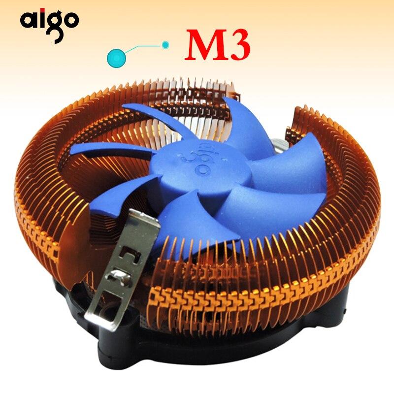 Aigo M2/M3 refroidisseur de processeur TDP 120 W dissipateur thermique avec 90mm ventilateur radiateur 2000 tr/min refroidisseur pour LGA 775/1151/1155/1156 et AM2/AM3/AM4Aigo M2/M3 refroidisseur de processeur TDP 120 W dissipateur thermique avec 90mm ventilateur radiateur 2000 tr/min refroidisseur pour LGA 775/1151/1155/1156 et AM2/AM3/AM4