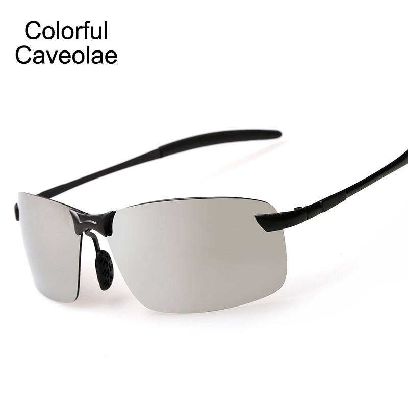 Colorful Caveolae Polarized Sunglasses Male Fashion Reflective Sun Glasses Brand Men Casual Colorful Driving Mens Glasses