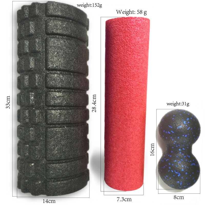 EPP Gym Fitness Yoga Foam Roller Peanut Ball Set Pilates Block Peanut Massage Ball For Therapy Relax Exercise Relieve Stress
