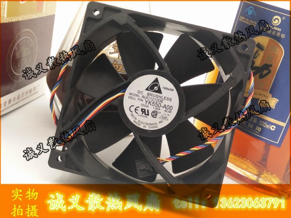 Delta AUC1212DE DC12V YK550-A00 1.00A 12038 4 line server fan