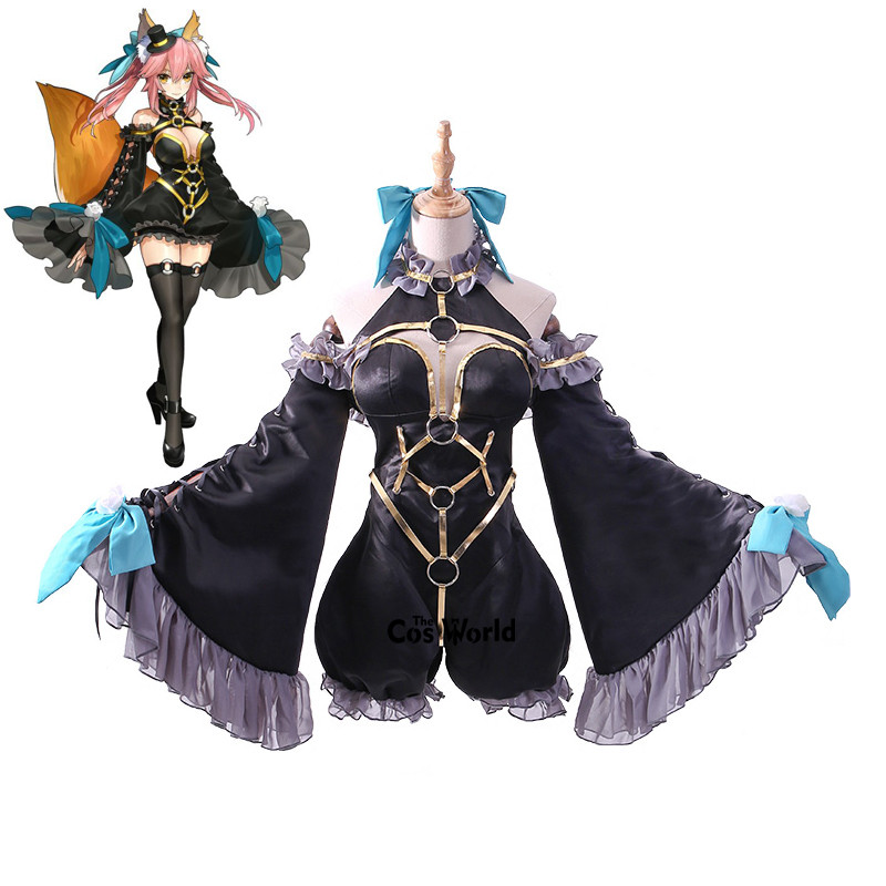 Fate EXTRA Magician Tamamo No Mae Uniform Outfit Anime Cosplay Costumes