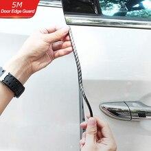 5M Black Carbon Fiber Car Door Edge Guards Strip U Shape Trim Molding Seal Protector Auto Care Tools Accessories