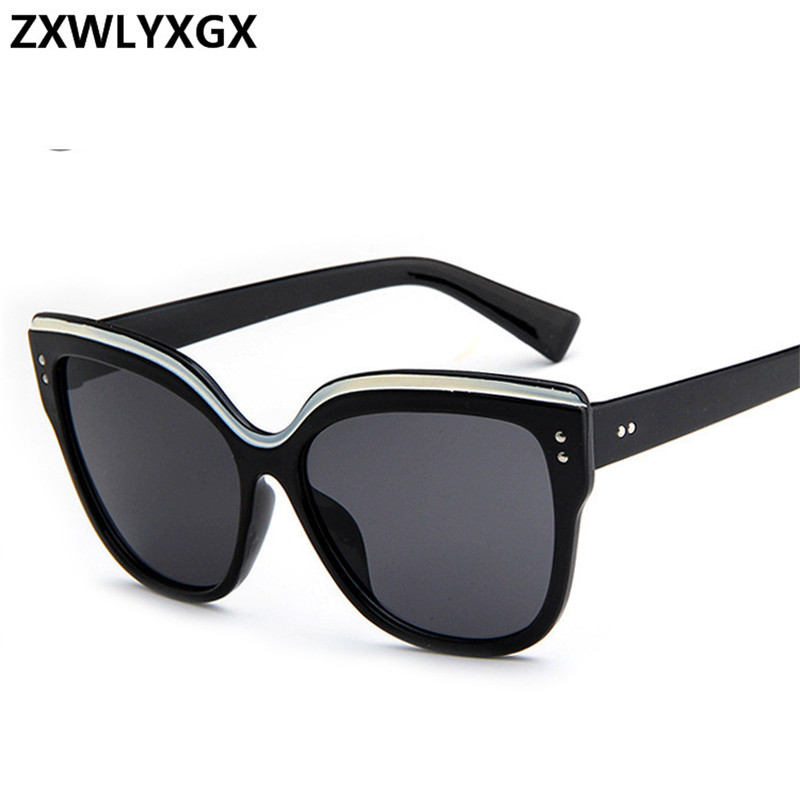 Cat Eye Fashion Sunglasses Men Women Brand Designer Eyebrows Butterfly Brand Designer Sun Glasses Retro Reflection UV400