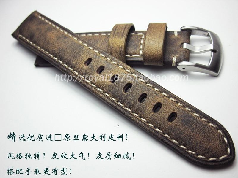 New Vintage Brown Watch Accessories Watch Bracelet Belt Soft Genuine Leather Watch Band Watch Strap 20mm 21mm 22 Mm Watchbands