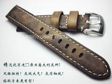 New Vintage Brown Watch Accessories Bracelet Belt Soft Genuine Leather Band Strap 20mm 21mm 22 mm Watchbands