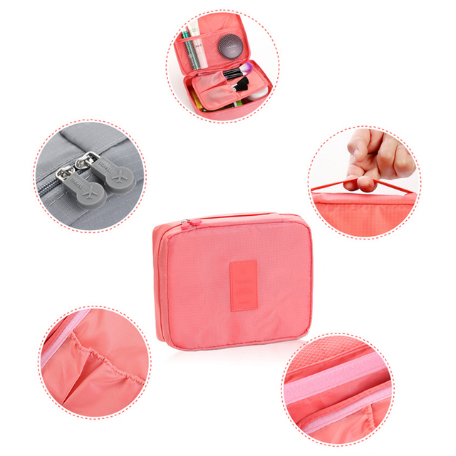 High Quality Portable Women Make Up Cosmetic Bag  4