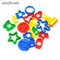 Abbyfrank 18 unids/set lodo molde animal kit de herramientas plastilina molde de arena polímero arcilla plastilina conjunto inteligente Juguetes para niños de color