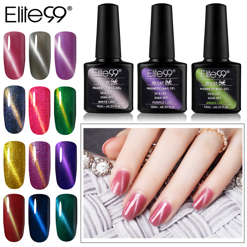 Elite99 29pcs/set Not Moving Cat Eye Gel 3D Long Stay Cat Eye Effect Nail Gel Polsih 10ml Soak Off UV Gel Lacquer Semi Permanent elite99 3d magnetic cat eye gel polish soak off nail art