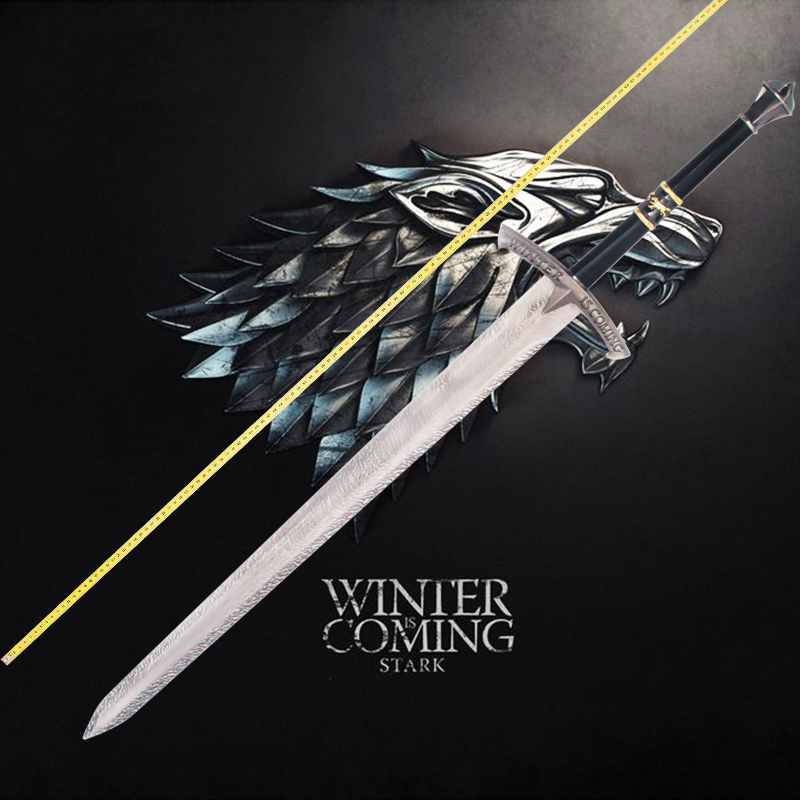Game Of Thrones Ice Sword House Stark Of Winterfell Ancestral Sword Film And Television Props Game Of Game Of Thronesgame Of Thrones Ice Aliexpress