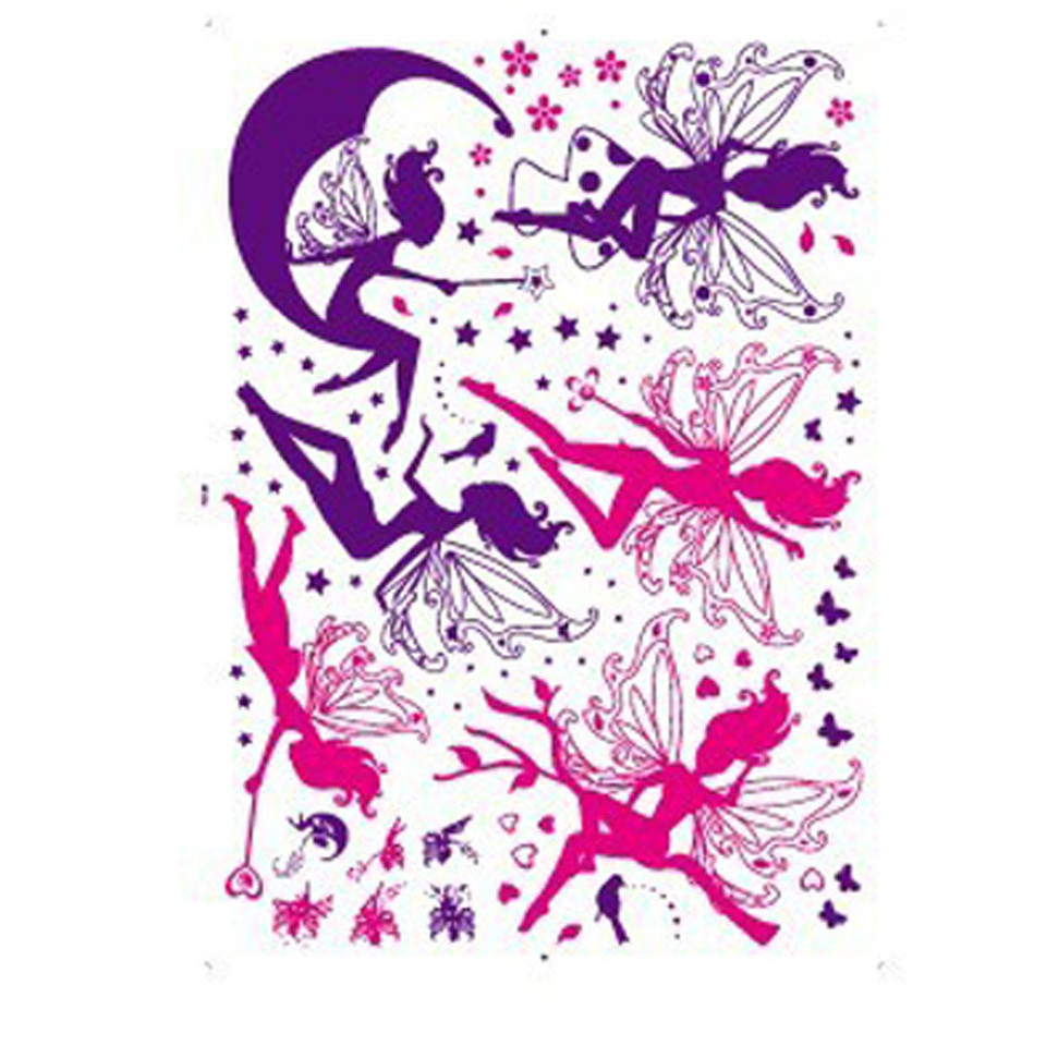 Flower Fairy Pink Colorful Tree Branch Butterfly Home Wall Girl Women Nursery