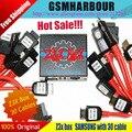 100% Original Edição Caixa Z3X Unlock & Flash & Repair Para samsung telefones celulares com 30 cabos + dhl frete grátis todos os 5 + Feedback