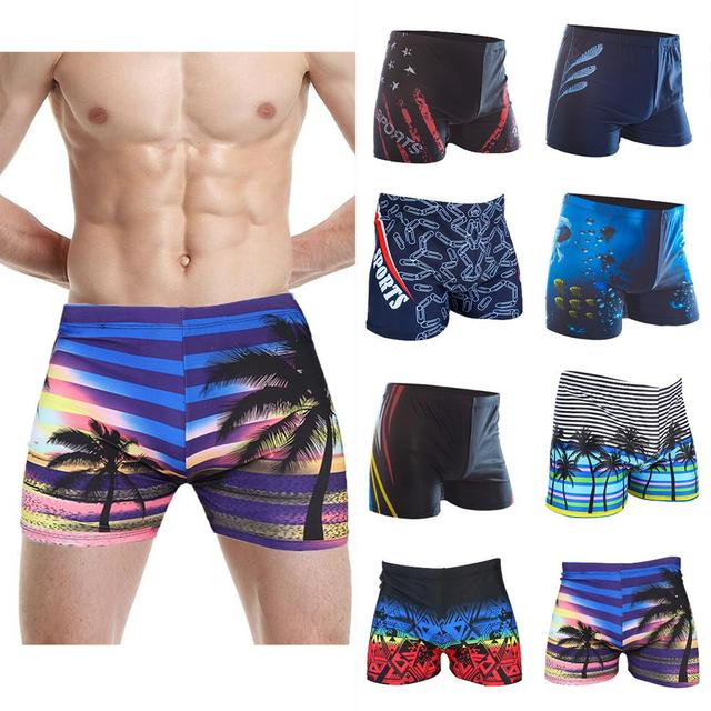 Maat Zwembroek.Multi Prints Mannen Zwembroek Badmode Swim Sport Slips Badpak Grote