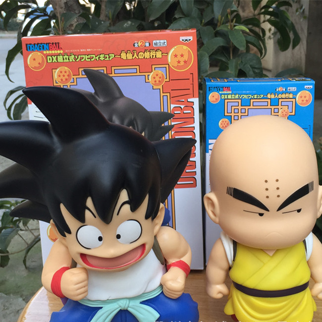 ФОТО SAINTGI Dragon Ball Z turtle shell Son Goku&Krillin PVC Action Figures Collection Model Toy Doll Free Shipping 21CM Anime Toys