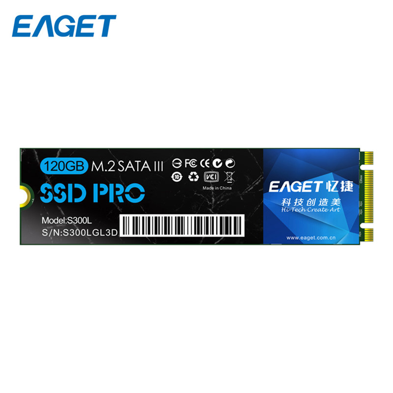 Original EAGET S300L 120GB SATA 3.0 SSD Ultrabook 2280 NGFF 120GB High Speed Shockproof Internal Solid State Drive For Laptop kingfast ssd 128gb sata iii 6gb s 2 5 inch solid state drive 7mm internal ssd 128 cache hard disk for laptop disktop