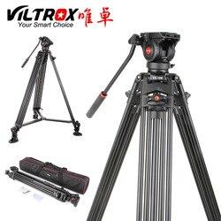 Viltrox VX-18M 1.8M المهنية الثقيلة مستقر الألومنيوم غير زلة حامل فيديو ثلاثي القوائم + السائل بان رئيس + حقيبة حمل ل كاميرا DV