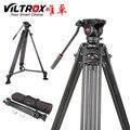 Viltrox VX-18M 1.8M Professional Heavy Duty Estável De Alumínio Não-deslizamento De Vídeo Tripé  Cabeça Pan Fluido  Carry Saco Para A Câmera DV