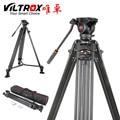 Viltrox VX-18M 1.8M Professionale Heavy Duty Stabile Di Alluminio Non-slip Video Treppiedi  Fluid Pan Testa  Carry Sacchetto Per La Macchina Fotografica DV